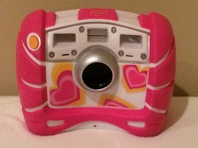 Fisher Price Kid Tough Pink Digital Camera 4X Zoom V2751 V2752 with Batteries