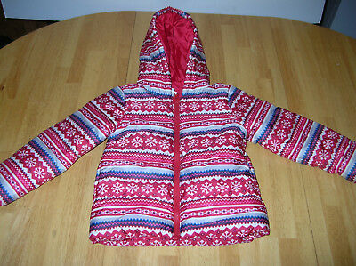 Girls Gymboree Winter Coat Puffer size 2T 3T Snowflakes Jacket