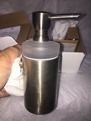 *NEW* Hansgrohe Wall-Mount Brass Soap Dispenser in Brushed Nickel 40514820