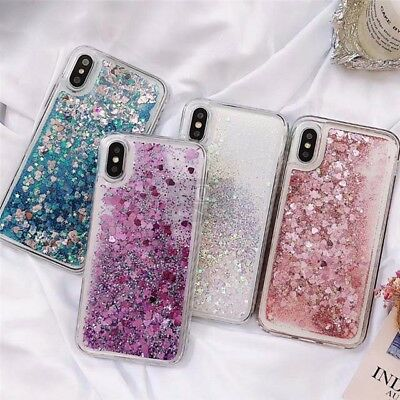 Liquid Glitter Water Stars Bling Sparkly Case Cover For iPhone XR XS 6S 7 8 Plus