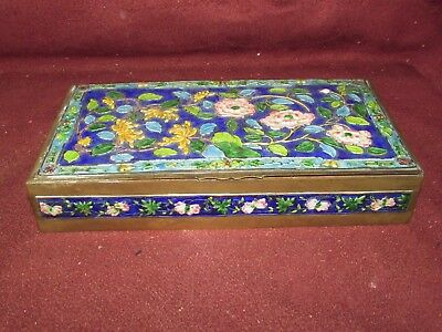 Old or Antique Chinese Enamel Jewelry Box