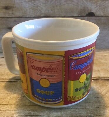 Campbell's Soup 1998 Campbell Soup Cans Print Ceramic Mug- Cup 10oz Rare Vintage