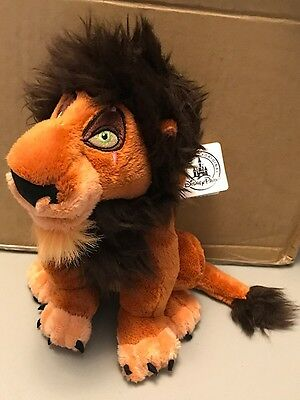 MWT Disney Parks The Lion King SCAR Plush Disneyland World Store WITH TAGS