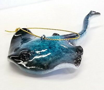 Stingray  ~ Blue ~  Hanging Ornament ~ Marine Coastal Decor ~ NEW
