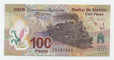 Mexico 100 Pesos 20-11-2007 Pick 128 UNC Uncirculated Banknote Polymer