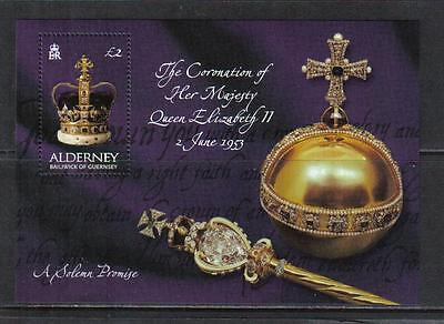 Alderney 2003 QEII Coronation 50th Anniversary ss--Attractive Topical (202) MNH