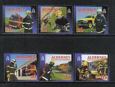 Alderney 2004 Island Fire Services--Attractive Topical (239-44) MNH