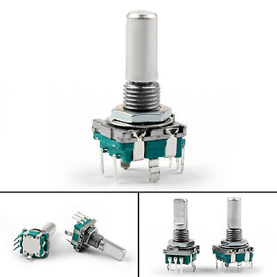 8PCS Rotary Encoder With Switch EC11 Audio Digital Potentiometer 20mm F Handle.