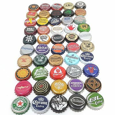 Beer Bottle Cap Lot Of 50 Different Mixed Bundle For Collecting Or Crafts (1)