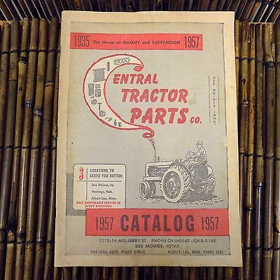 Vintage Central Tractor Parts Company Catalog John Deer Caterpillar Book 1957