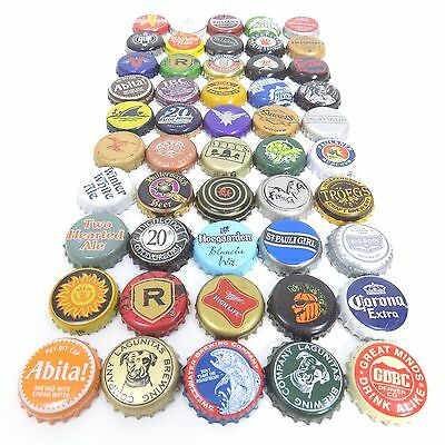 Beer Bottle Cap Lot Of 50 Different Mixed Bundle For Collecting Or Crafts (2)