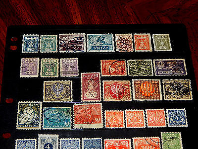 Poland stamps - BIG lot of 188 mint hinged and used early stamps - super !!