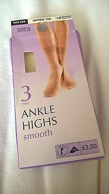 Ladies 5 pairs Ankle Highs. M&S and BHS