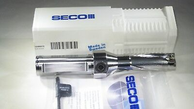 "Seco Sd523 1"" Indexable Carbide Insert Drill Drilling Lathe Coolant Feeding Tool"