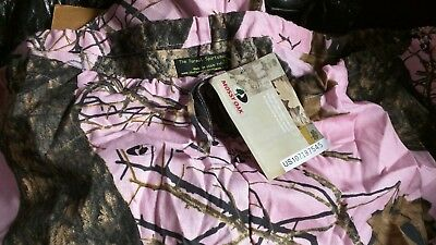 3X New Mossy Oak Pink Camo Scrub Bottom medical vet Hospital Uniform PANTS