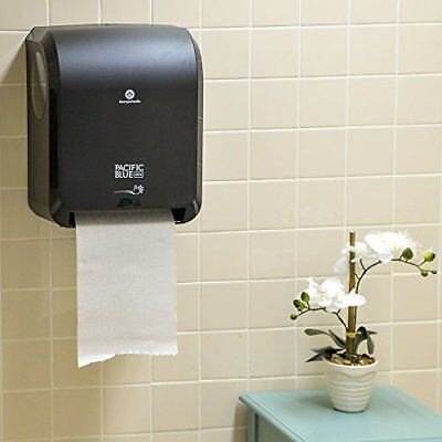 PACIFIC ROLL HAND PAPER TOWEL DISPENSER HOLDER AUTOMATED TOUCH-LESS 1150-ft CAP