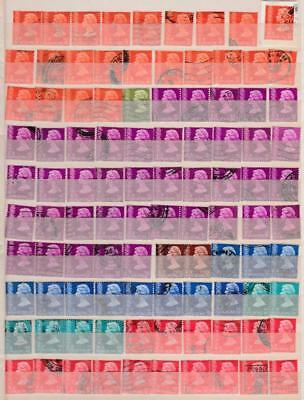 Hong Kong Definitives Big Used Stock On 6 Pages, Total 494 Stamps, High Cv