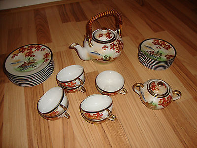 Traumhaftes & Sehr Altes Teeservice China 6 Personen Vintage