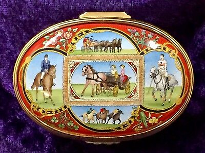"""Halcyon Days Enamels – LIMITED EDITION – """"All the Queen's Horses"""" Box!"""