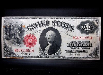 1917 $1 United States Note ✪ Vf Very Fine Apparent ✪ Legal Tender  851 ◢Trusted◣