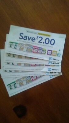 Similac manufactures coupons $10 worth lot of 5 $2 off