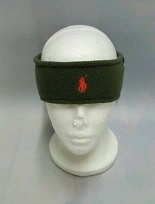 "NWT POLO RALPH LAUREN ""PONY"" HEADBAND EARWARMER Olive ( ONE SIZE ) NWT"