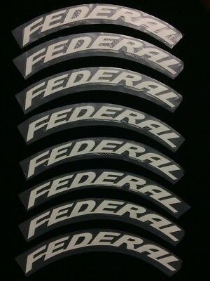 """Permanent FEDERAL TIRE LETTER Sticker  Peel Stick 1"""" Fits 13"""" to 21"""" Tire 8pcs"""