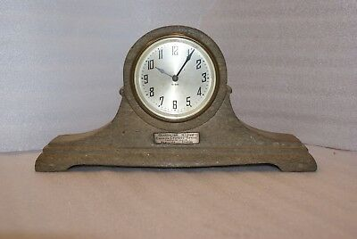 RARE Queenston Quarry Canada Crushed Stone Mantle Clock Limestone New Haven ASIS