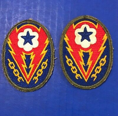 LOT OF 2 VINTAGE WW2 US Army ETO Advanced Sector MILITARY PATCHES