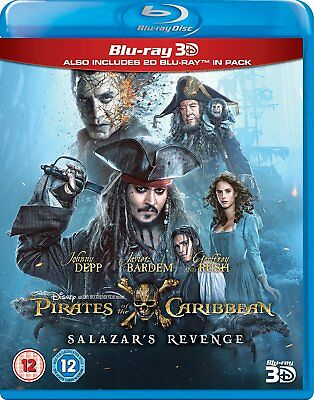 Pirates of the Caribbean Salazar's Revenge/Dead Men Tell No Tales 3D 2D Blu-Ray