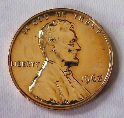 1962 1C RD (Proof) Lincoln Cent - Uncirculated - FREE DOMESTIC SHIPPING