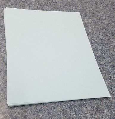 """25 Sheets of 8.5 X 11"""" 110lb. Blue Smooth Finish Craft or Copy Card Stock"""