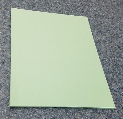 """25 Sheets of 8.5 X 11"""" 110lb. Green Smooth Finish Craft or Copy Card Stock"""