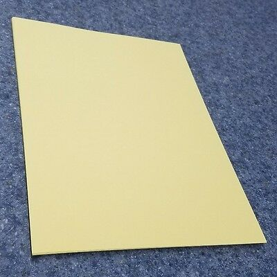 """25 Sheets of 8.5 X 11"""" 110lb. Yellow Smooth Finish Craft or Copy Card Stock"""
