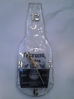 Corona Original Stubbie Bottle Clock, Recycled Melted And Flattened