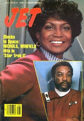 "JET MAGAZINE July 1982 Blacks in Space Nichols, Winfield Hits In ""Star Trek II"""