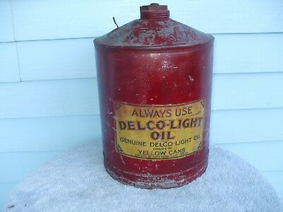 VINTAGE RARE 1920's DELCO LIGHT PLANT OIL FUEL TANK CAN ENGINE CONE TOP
