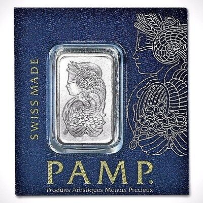 1 Gram .999 Fine Platinum Bullion Bar - PAMP Suisse - In Assay Card