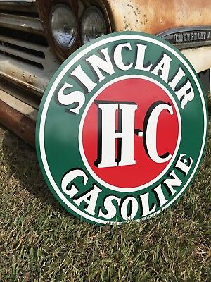 Antique Vintage Old Style Sinclair Gasoline HC Sign