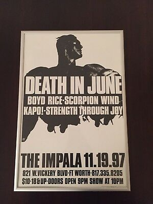 DEATH IN JUNE Poster Boyd Rice Neofolk