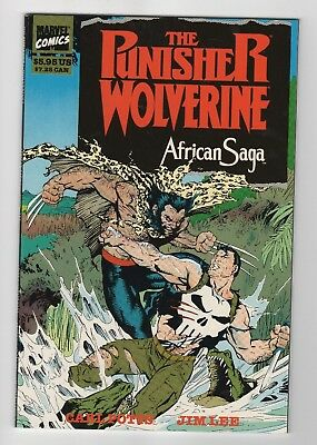Marvel Comics The Punisher Wolverine African Saga Copper Age