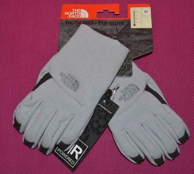 The North Face Youth Apex Etip Winter Snow Touch-Screen Grey Size M 10/12 New