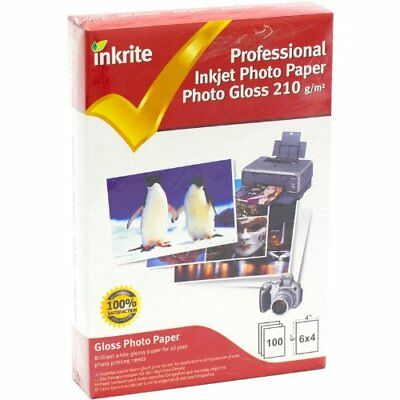 Inkrite PhotoPlus Professional Paper Photo Gloss 210gsm 6x4 100 sheets