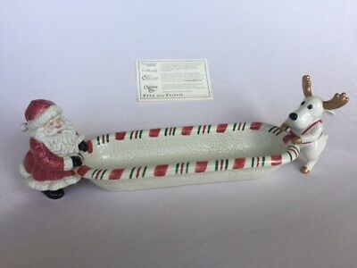 Fitz & Floyd Christmas Holiday Yuletide cracker cradle excellent condition