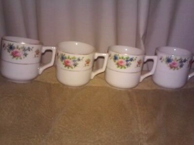 4 Made In Occupied Japan Tea Cups