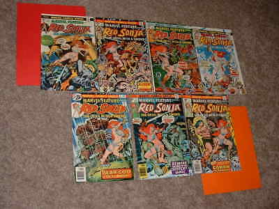 1983-85 Lot of 7 Marvel Red Sonja 1 2 3 4 5 6 7 Solid FN to VF Free Shipping