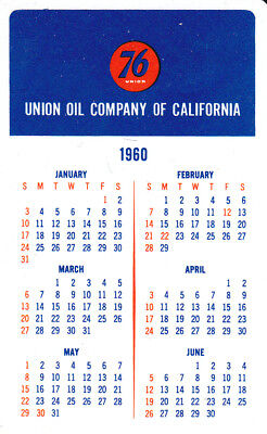 Union Oil Company 1960 Card Calendar