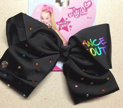 **Authentic JoJo Siwa 8 In Large Bow New Dance It Out Black**