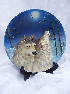 WOLF PLATE, 3D Decorative Wolf, Collectable Series, Call of the Wild, 7.5 diamet