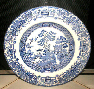 BLUE WILLOW EIT IRONSTONE 4 plates 6 7/8in MADE IN ENGLAND | PicClick